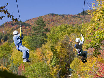 New York Zipline Adventure Canopy Tour at Hunter Mountain, NY